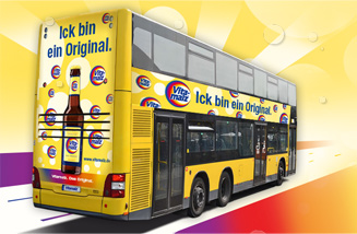 Buswerbung für Vitamalz, das Original, in Berlin im Rahmen der Kampagne 2014