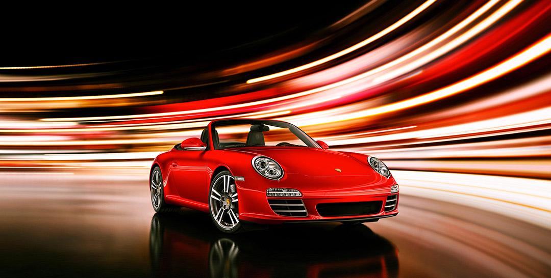 Fotografie roter Porsche aus der Online-Galerie von Willie von Recklinghausen
