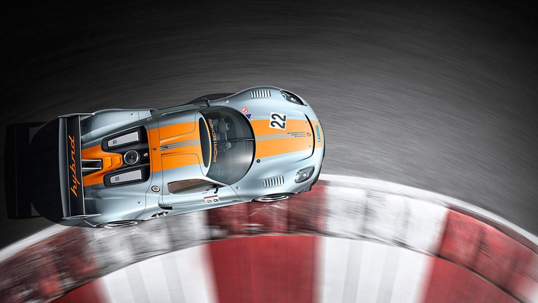 Fotografie Porsche auf Rennstrecke aus der Online-Galerie von Willie von Recklinghausen