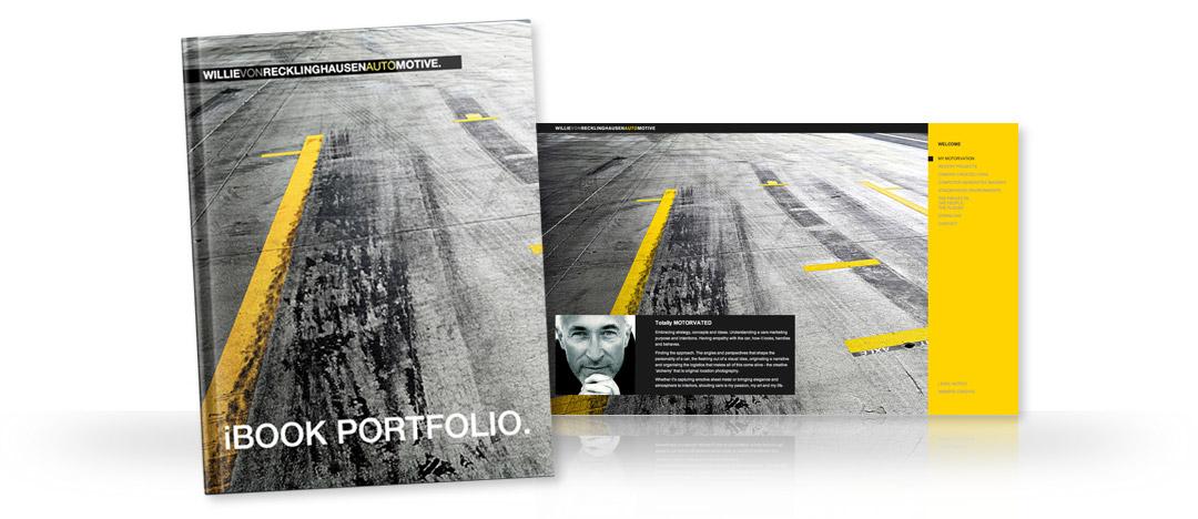 iBook Portfolio und Detailseite der Website von Fotograf Willie von Recklinghausen