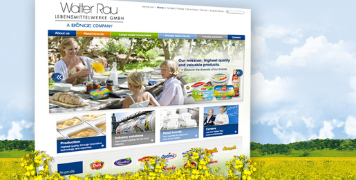 Walter Rau - Website relaunch