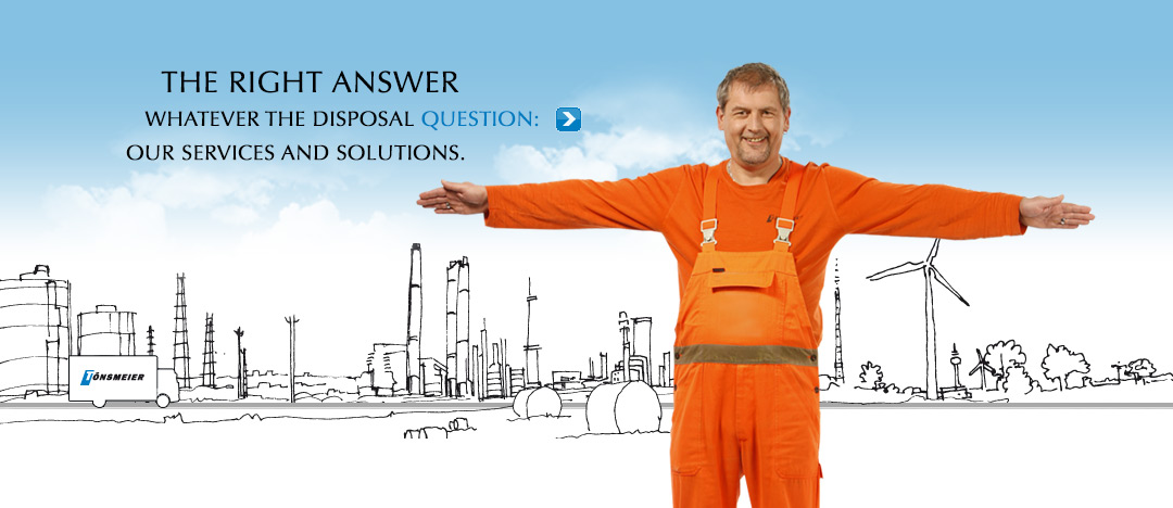 "Picture of an employee of Tönsmeier, spreading his arms to symbolise the letter ""T"", beeing a part of the new campaign"