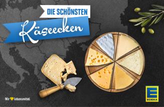 """Key-Visual des EDEKA Webspecials """"Die schönsten Käseecken"""" auf der EDEKA Website"""