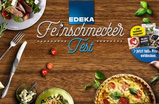 """Das Key-Visual zum EDEKA Webspecial und Gewinnspiel """"Feinschmecker Test"""" auf der EDEKA Website"""