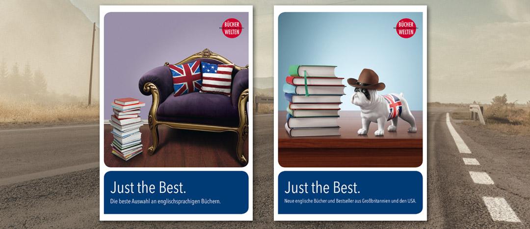 Covergestaltung für die Just the Best Händler-Kataloge von Libri