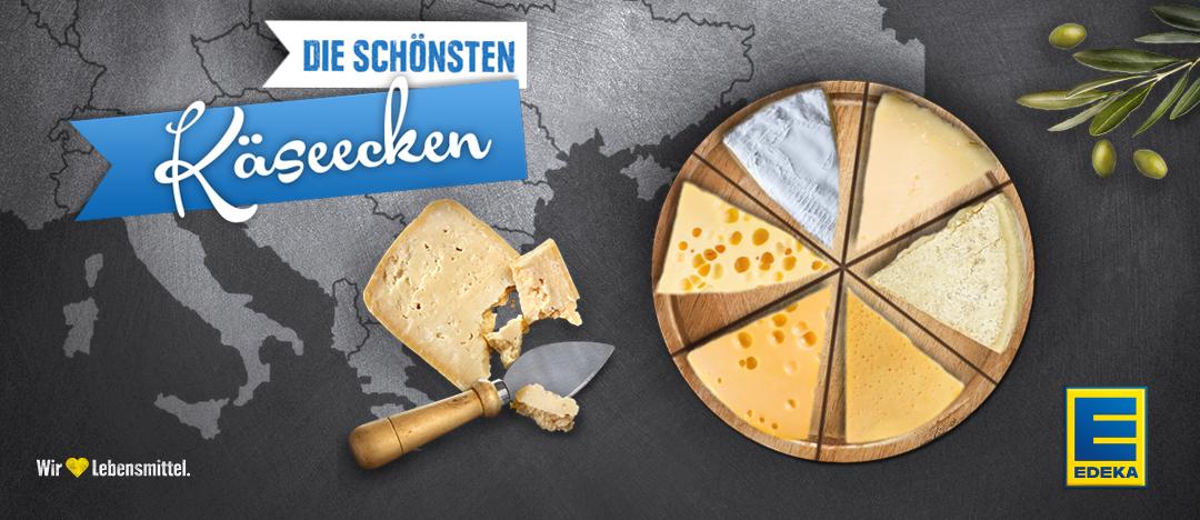 Das Key-Visual des EDEKA Webspecials Die schönsten Käseecken aus dem Jahr 2015