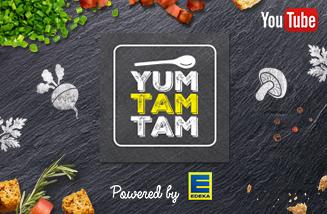 Die Website für den Kochkanal yumtamtam von EDEKA