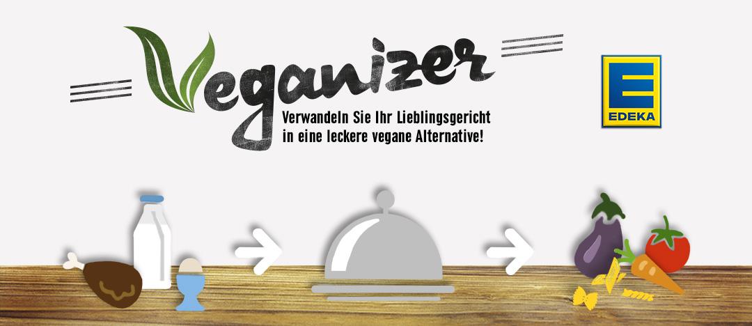 Key-Visual des EDEKA Webspecials Veganizer mit Attila Hildmann von der EDEKA Website aus dem Jahr 2015