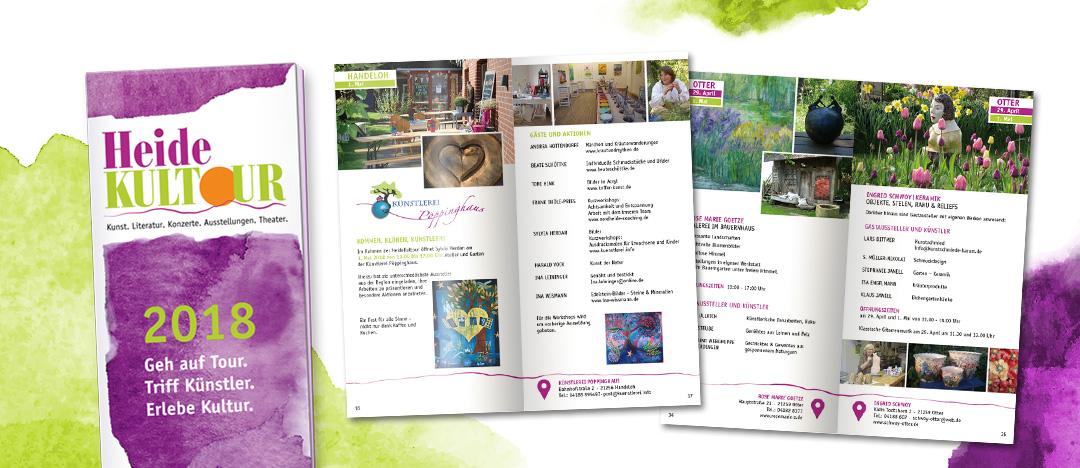 HeideKultour Broschüre Übersicht