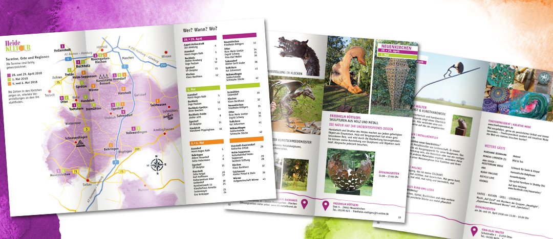 HeideKultour Broschüre Landkarte